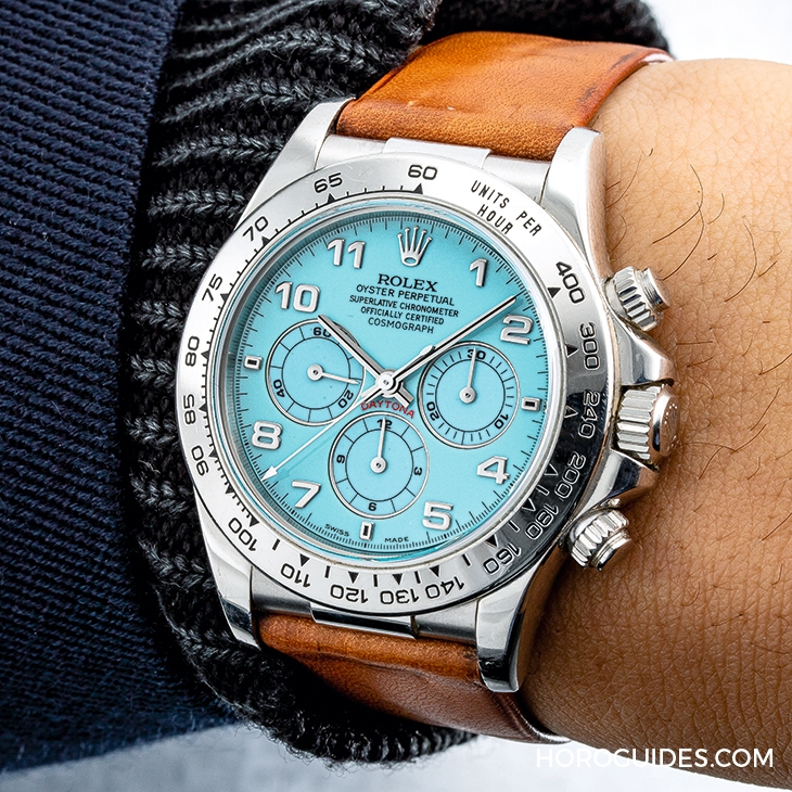 "ROLEX - ROLEX鉑金 ""Zenith"" Daytona 綠松石漆面腕錶創314萬美金拍賣新高!"